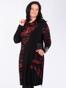 Kleid Joanice paprika Print forest-schwarz XL