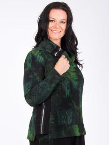 Pullover Aida grün/cyan-schwarz Print cloud XL