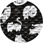 Rollschal Cats schwarz-weiss