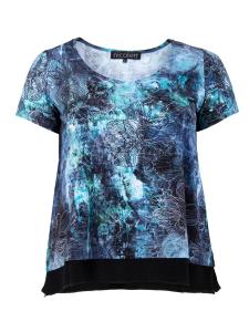 Shirt Charey türkis-lagune Blume XL