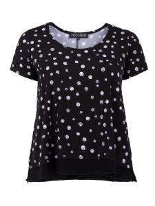 Shirt Charey Punkte schwarz-weiss 3XL