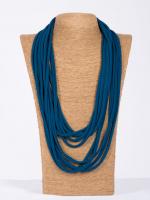 Jerseykette opalblau uni