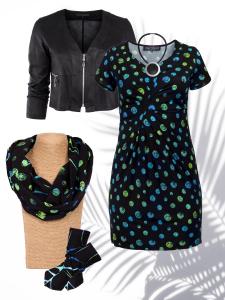 Stulpen schwarz-grün-blau