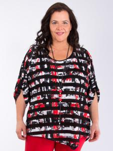 Shirt Catia rot-weiß-schwarz 3XL