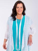 Jerseykette weiß uni