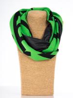 Rollschal Jacq.Letter grün-schwarz