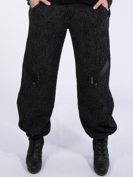 Jacquard grau-schwarz