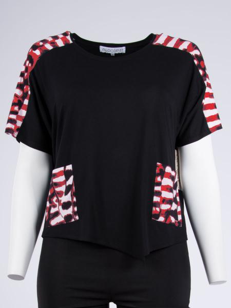 schwarz-Print rot