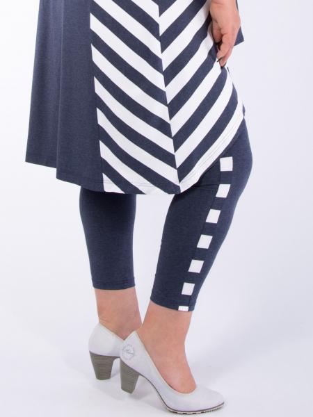 Streifen jeans-weiß