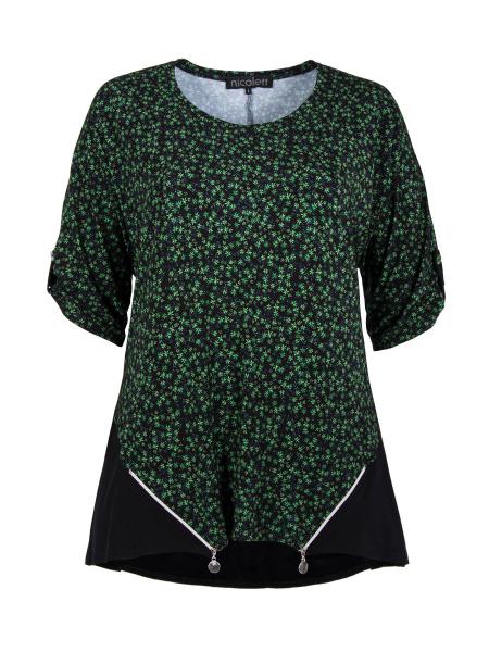 Millefleurs grün-schwarz