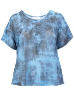 blue graphic print