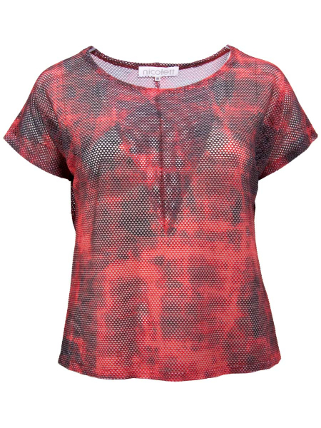 red graphic print