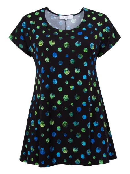 Punkte grün-blau/schwarz